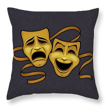 Live Theater Throw Pillows