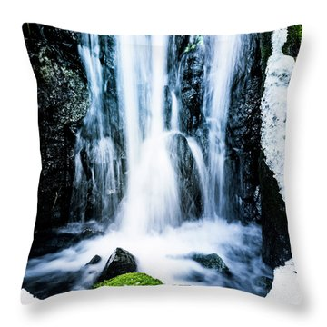 Early Spring Waterfall Throw Pillow