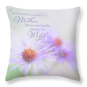 Asters For Mother's Day Throw Pillow
