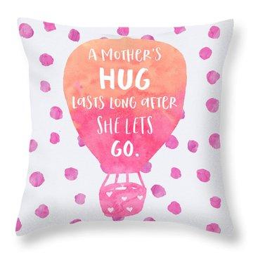 A Mother's Hug Throw Pillow