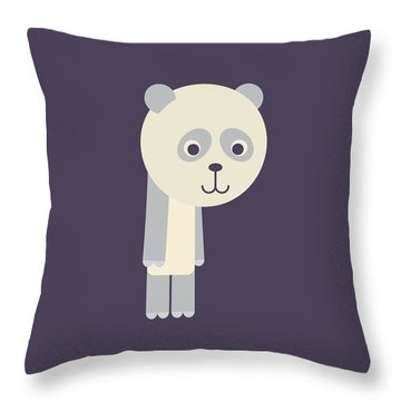 Letter P - Animal Alphabet - Panda Monogram Throw Pillow