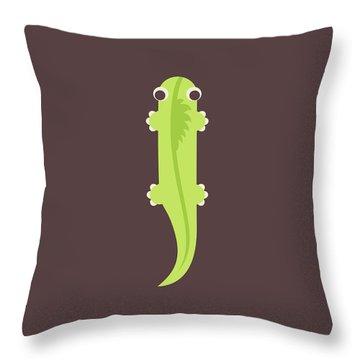 Letter I - Animal Alphabet - Iguana Monogram Throw Pillow
