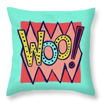 Woo Throw Pillow