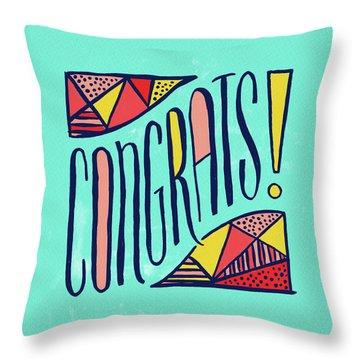 Congrats Throw Pillow