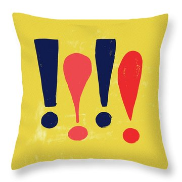 Exclamations Pop Art Throw Pillow
