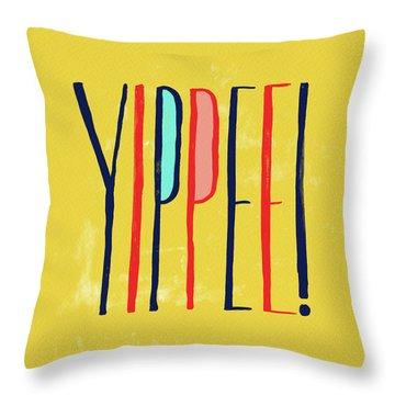 Yippee Throw Pillow