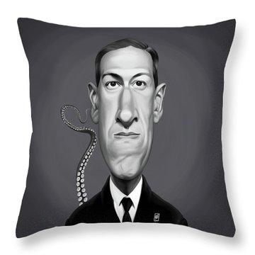 Celebrity Sunday - H.p Lovecraft Throw Pillow