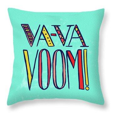 Va Va Voom Throw Pillow