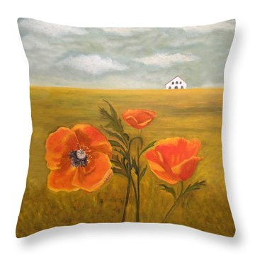 Springtime Storm Throw Pillow