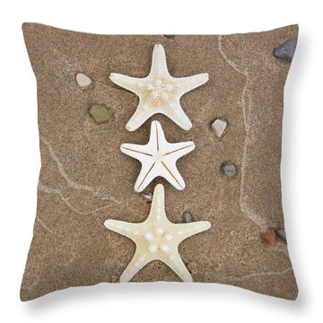 Starfish In The Sand Throw Pillow