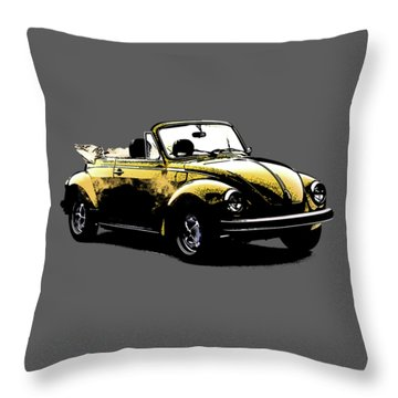 Vw Beetle 1972 Throw Pillow