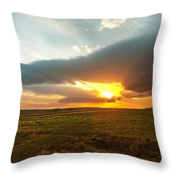As The Sun Is Setting Throw Pillow