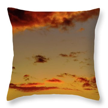 As The Sun Touches Throw Pillow