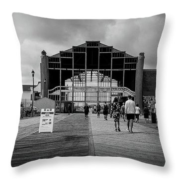 Throw Pillow featuring the photograph Asbury Park Boardwalk by Steve Stanger