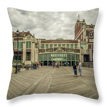 Throw Pillow featuring the photograph Asbury Park Convention Hall by Steve Stanger