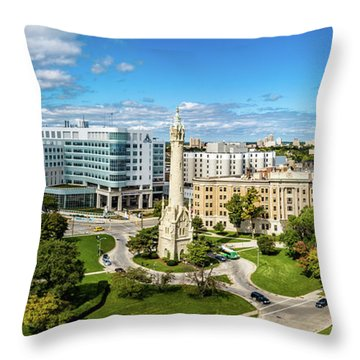 Throw Pillow featuring the photograph Ascension Columbia St. Mary's Hospital by Randy Scherkenbach