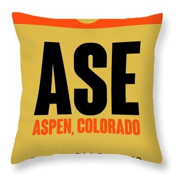Ase Aspen Luggage Tag I Throw Pillow