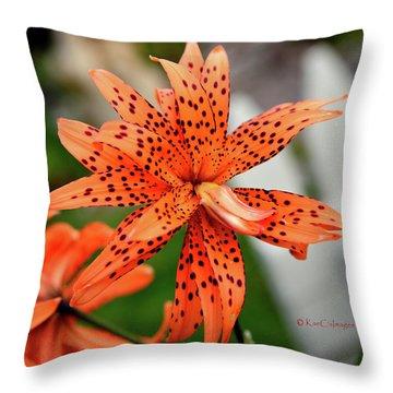 Asian Tiger Lily Throw Pillow