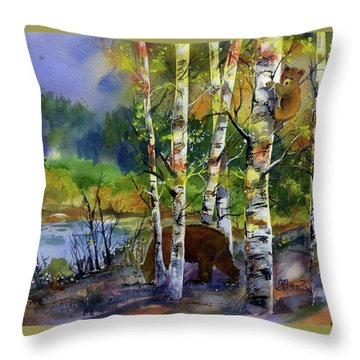 Aspen Bears #2 Throw Pillow