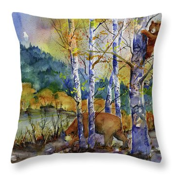 Aspen Bears At Emmigrant Gap Throw Pillow