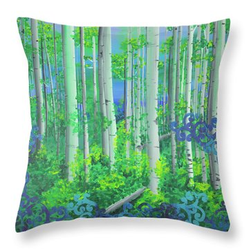 Aspens In July Throw Pillow