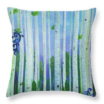 Aspens In Summer Throw Pillow