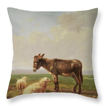 Ass And Sheep, 1849 Throw Pillow
