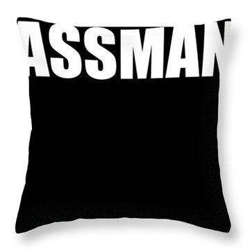 Assman Funny Kramer New York Love Booty Boob Butt Guy Ny License Plate Party Tv Show Tee Neon Free S Throw Pillow