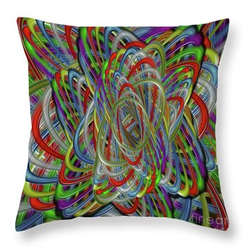 Astray Colors Throw Pillow