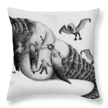 Astrid The Nightmare Nurturer - Artwork Throw Pillow