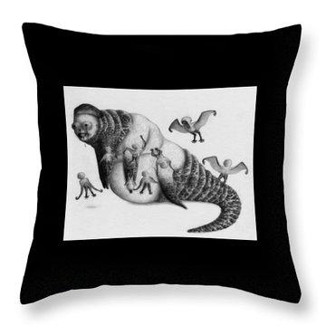Astrid The Nightmare Nurturer - Artwork Throw Pillow