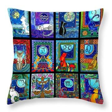 Astrology Cat Zodiacs Throw Pillow