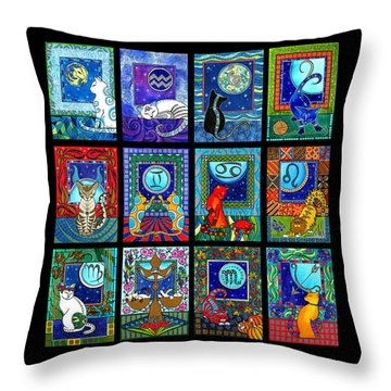 Astrology Cat Zodiacs Throw Pillow
