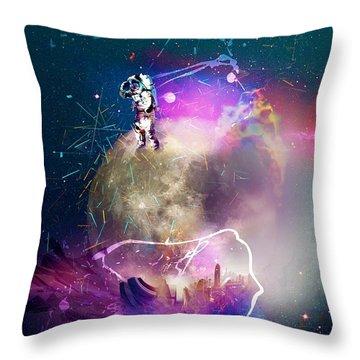 Astronaut Fantasy Throw Pillow