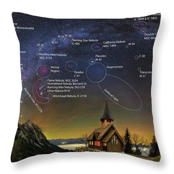 Astrophotography Winter Wonderland Throw Pillow