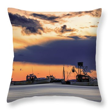 Throw Pillow featuring the photograph At Anchor At Lookout Point by Rick Berk
