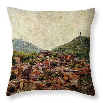 Throw Pillow featuring the photograph at Bird Sight  by Milena Ilieva
