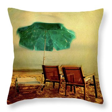 Throw Pillow featuring the photograph At The End Of The Day by Milena Ilieva