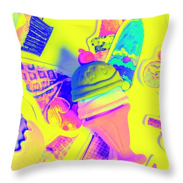 At The Waffle House Throw Pillow