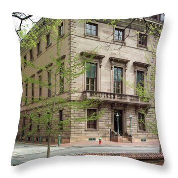 Athenaeum Exterior Throw Pillow