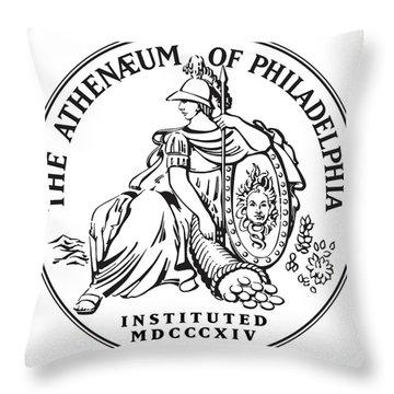 Athenaeum Of Philadelphia Logo Throw Pillow