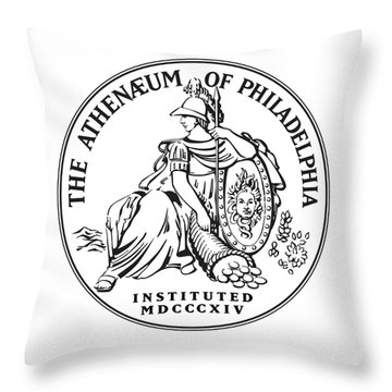 Athenaeum Of Philadelphia Logo Throw Pillow