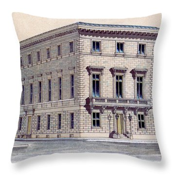 Athenaeum Perspective Throw Pillow