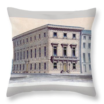 Athenaeum Perspective Throw Pillow