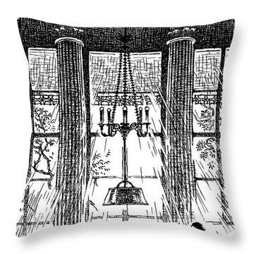 Athenaeum Reading Room Throw Pillow