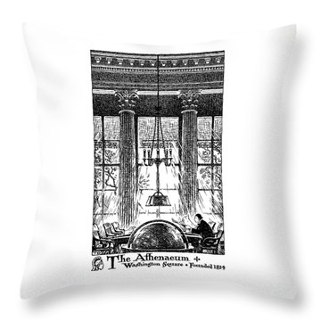 Athenaeum Reading Room Throw Pillow