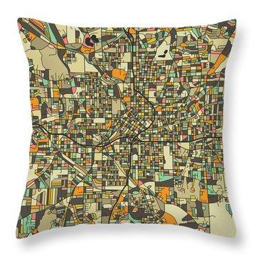 Road Map Photographs Throw Pillows
