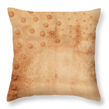 Atlantic Codex - Codex Atlanticus, F 33 Recto Throw Pillow
