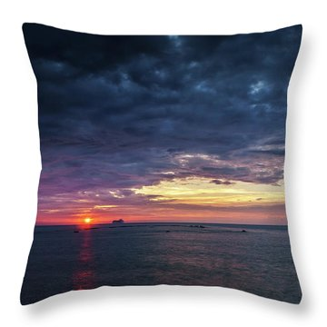 Throw Pillow featuring the photograph Atlantic Ocean Sunset by Pablo Avanzini