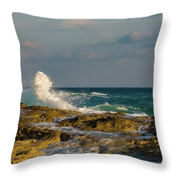Throw Pillow featuring the photograph Atlantis Breakers by Jeff Phillippi